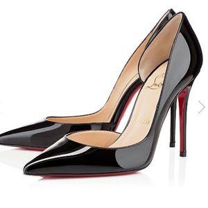 Christian Louboutin Black patent 100 iriza heels
